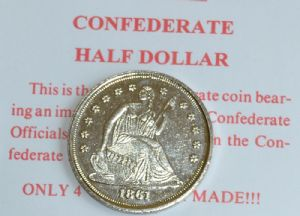 Confederate Replica Half Dollar Coin